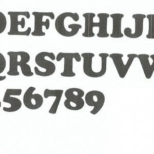 Alphabet cooper black