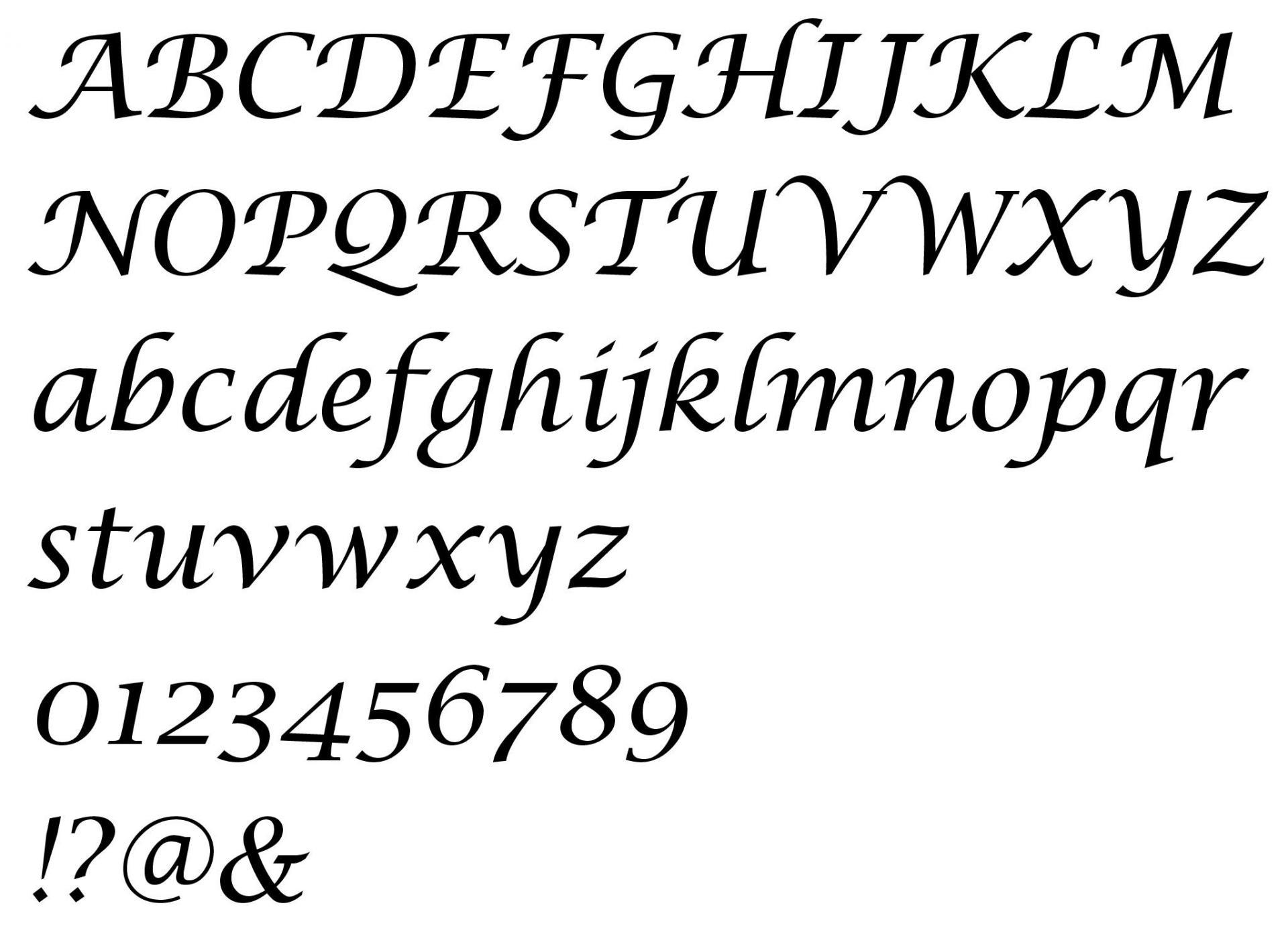 Alphabet lucida calligraphy 3