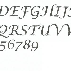 Alphabet lucida calligraphy copie