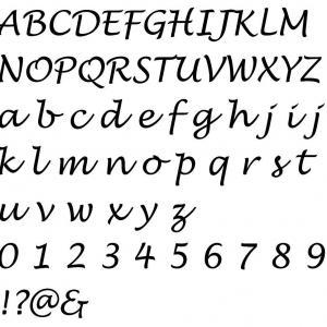 Alphabet lucida handwriting 1