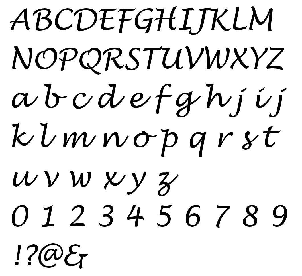 Alphabet lucida handwriting 2