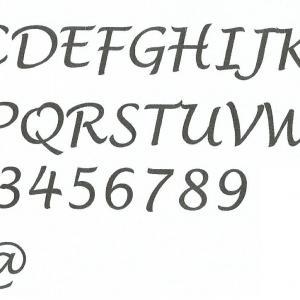 Alphabet lucida handwriting copie