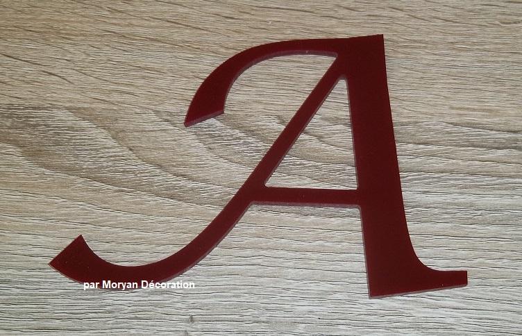 Enseigne plexi lucida calligraphy