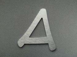 Découpe de lettre enseigne en alu brossé DIBOND ANIME ACE