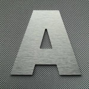 Découpe lettre enseigne alu DIBOND ARIAL BLACK