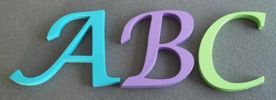 Fabrication de lettre bois déco LUCIDA CALLIGRAPHY | Atelier