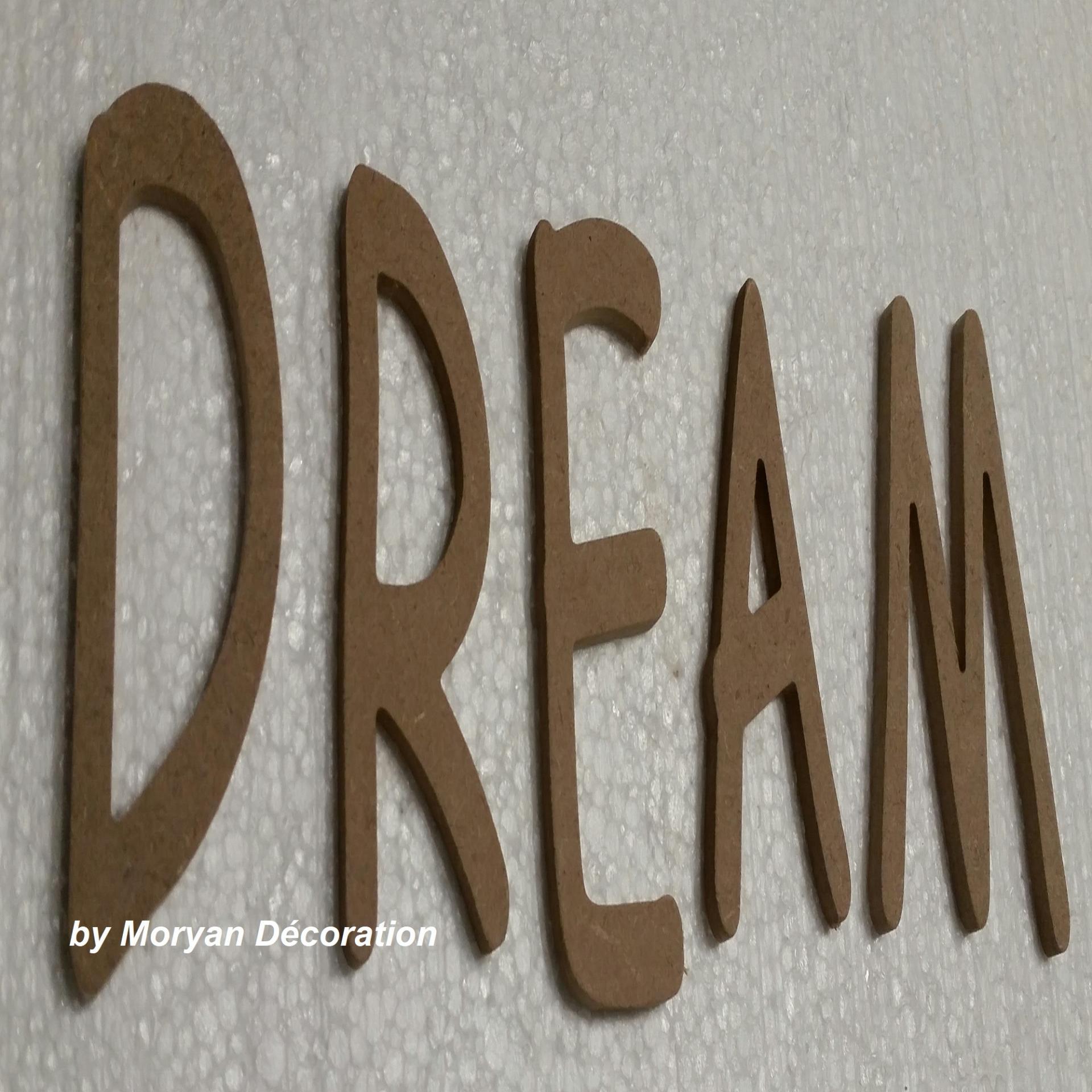Lettre bois dream 40 cm