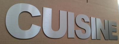 Lettre déco en alu brossé CUISINE