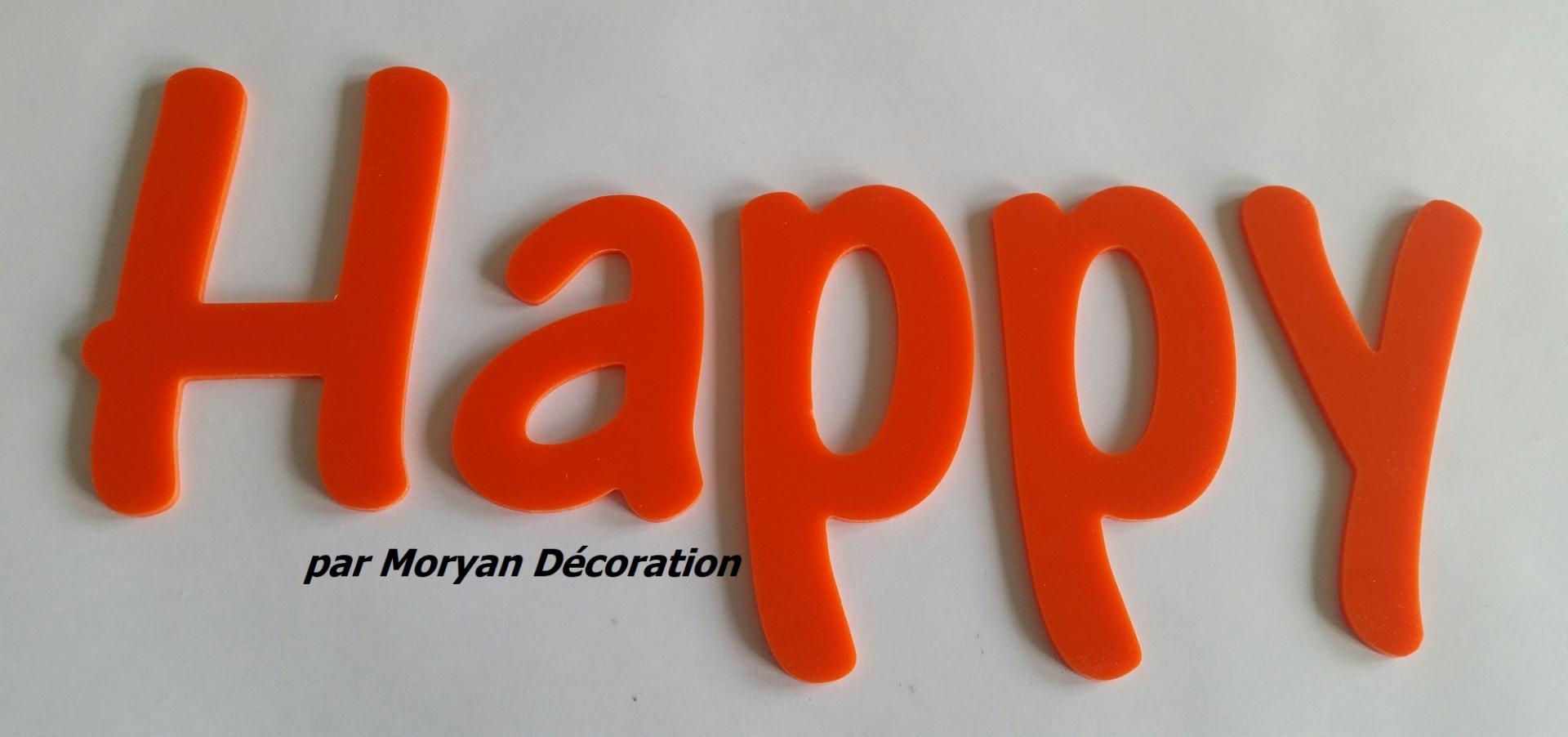 Lettre deco happy 1