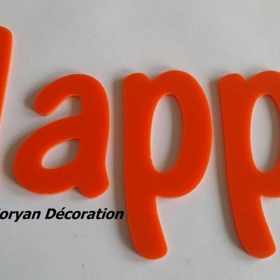 Lettre deco Happy , hauteur 20 cm