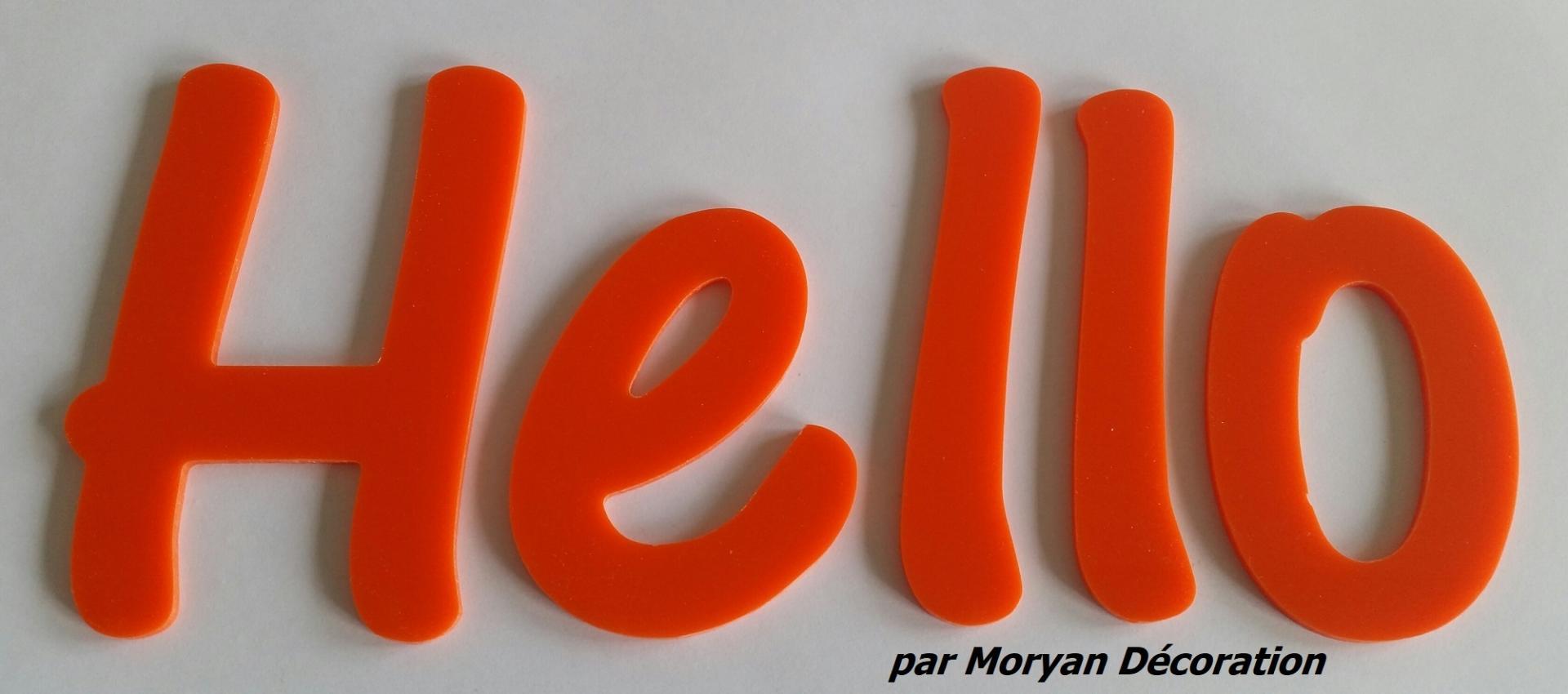 Lettre deco hello 1