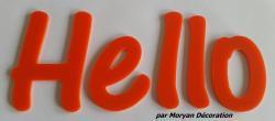 Lettre deco Hello , hauteur 20 cm