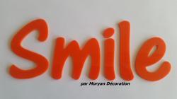 Lettre deco Smile , hauteur 20 cm