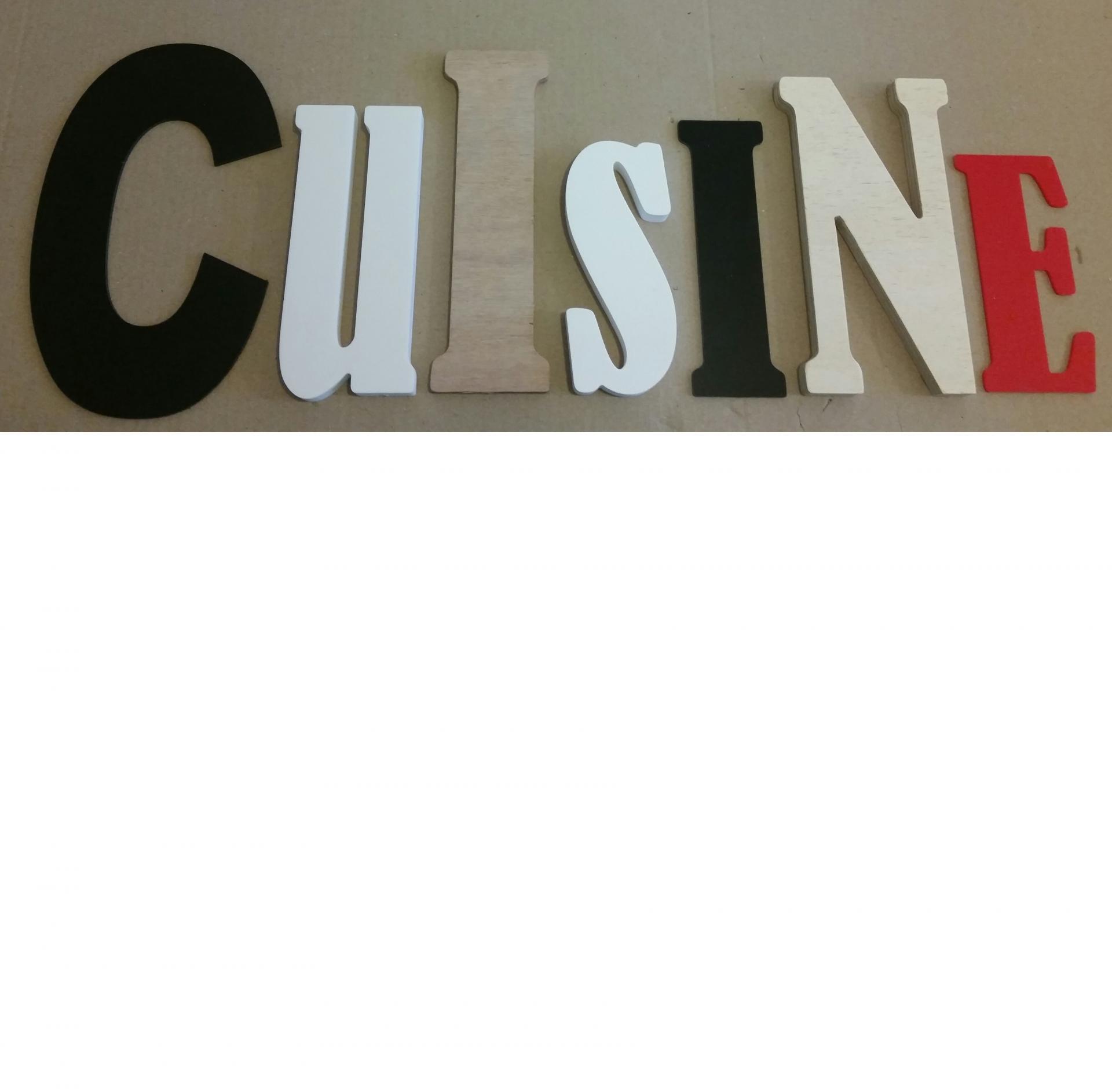 Lettre decorative cuisine lot 0009