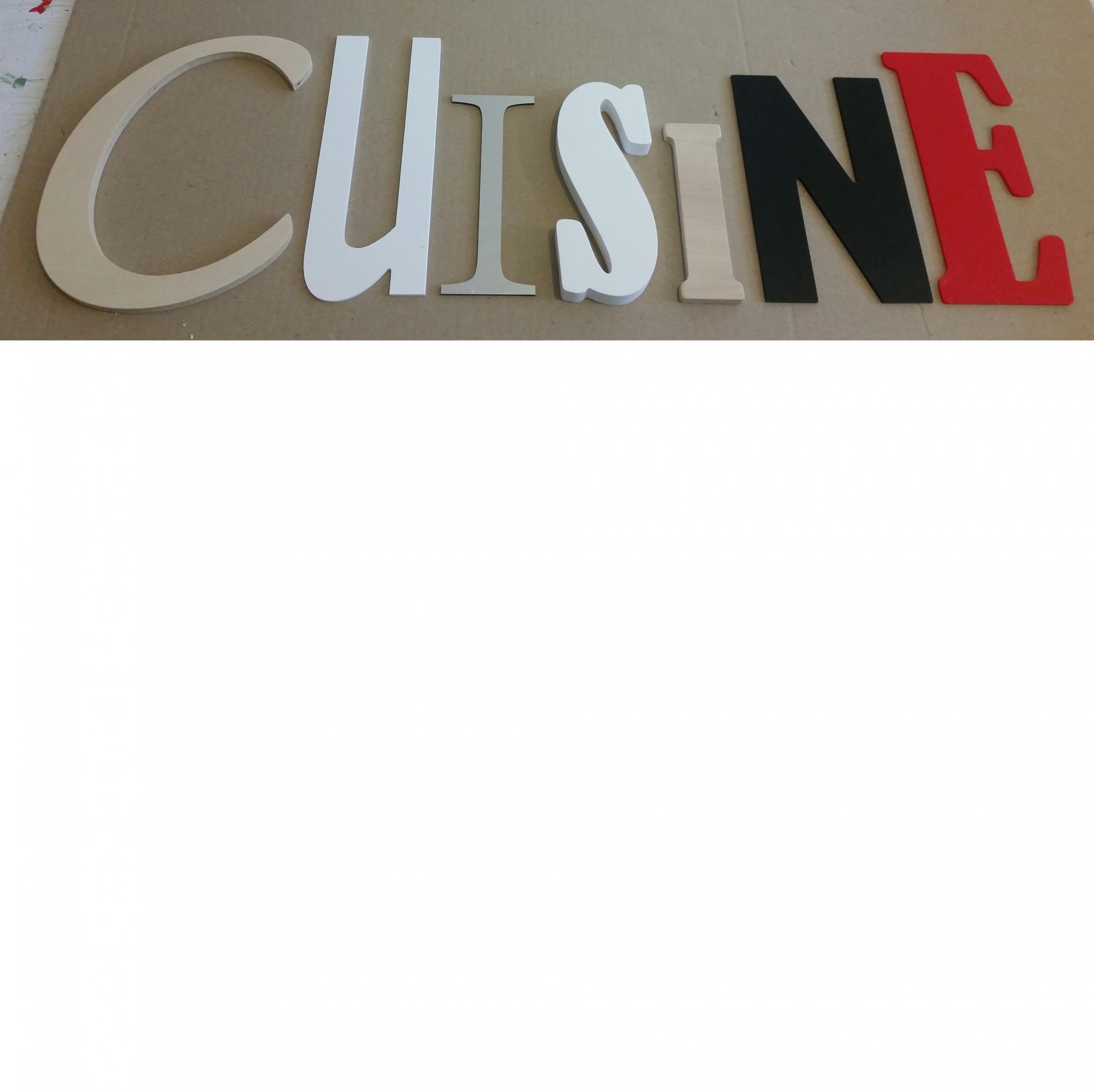 Lettre decorative cuisine lot 0010
