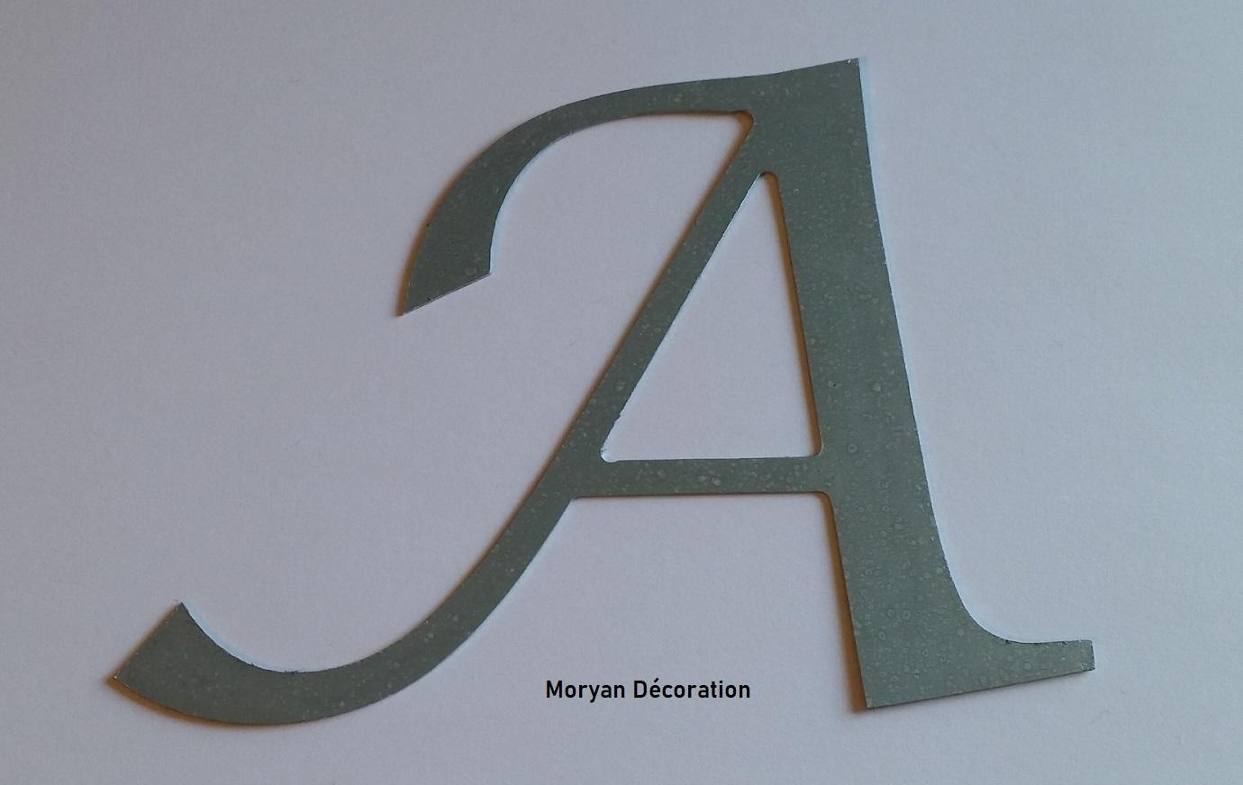 Lettre decorative murale en zinc lucida calligraphy