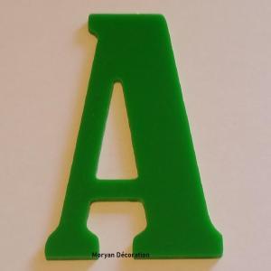 Lettre decorative plexi bernard condensed