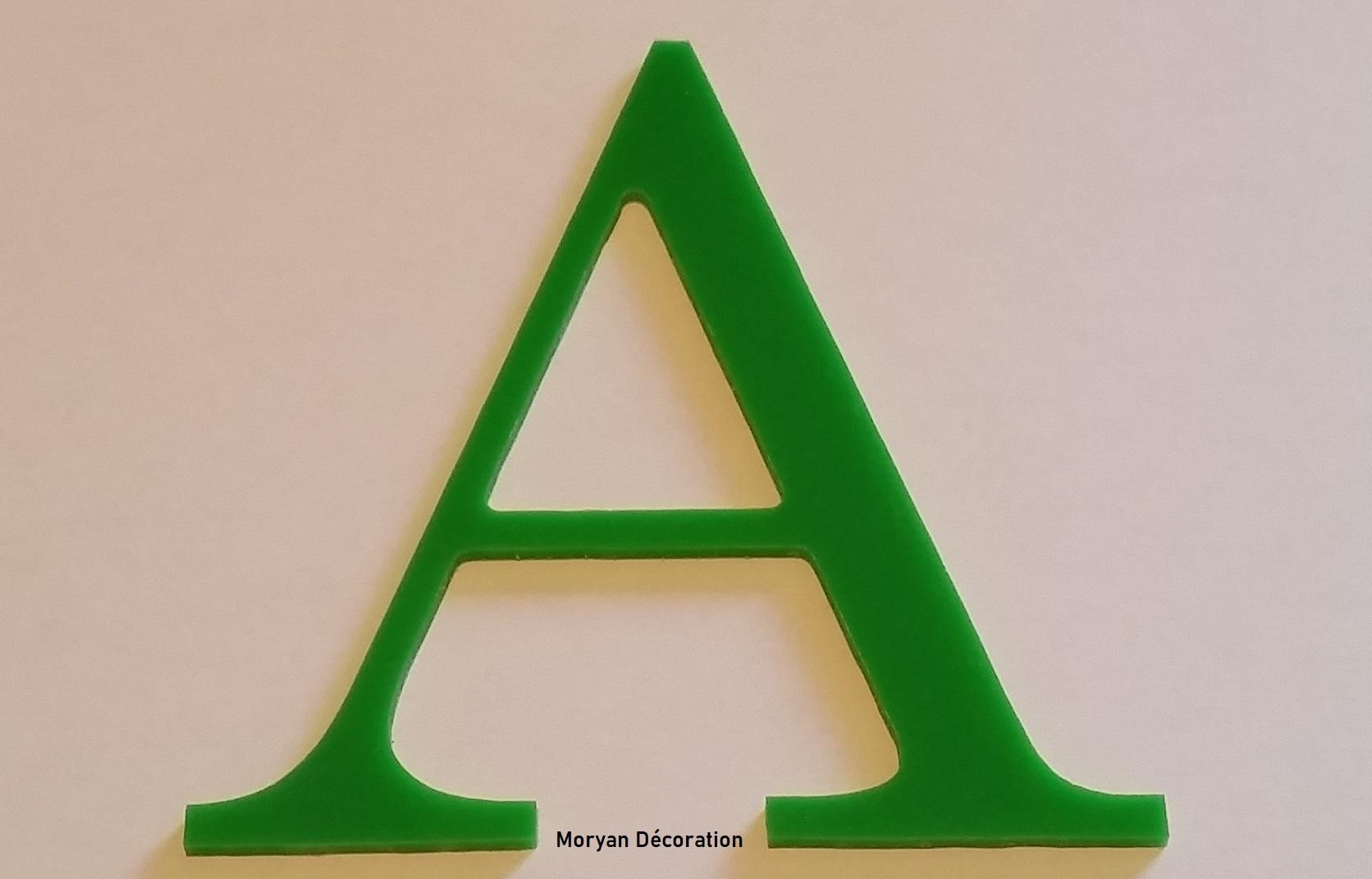 Lettre decorative plexi century