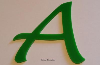 Lettre plexiglas LUCIDA HAND