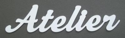 Lettre décorative PVC ATELIER