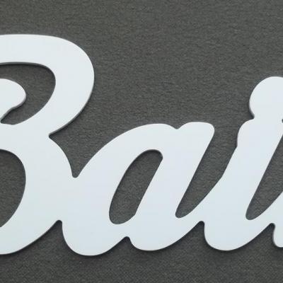 Lettre décorative PVC BAIN