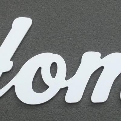 Lettre décorative PVC HOME