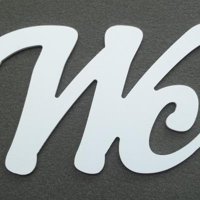 Lettre décorative PVC WC