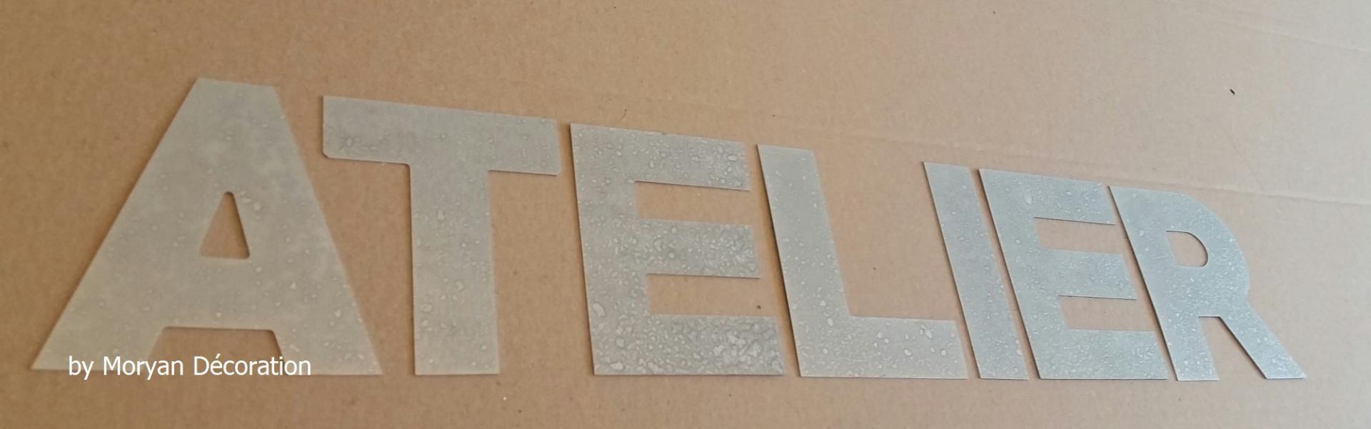 Lettre decorative zinc atelier