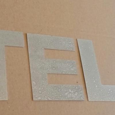 Lettre decorative en zinc ATELIER