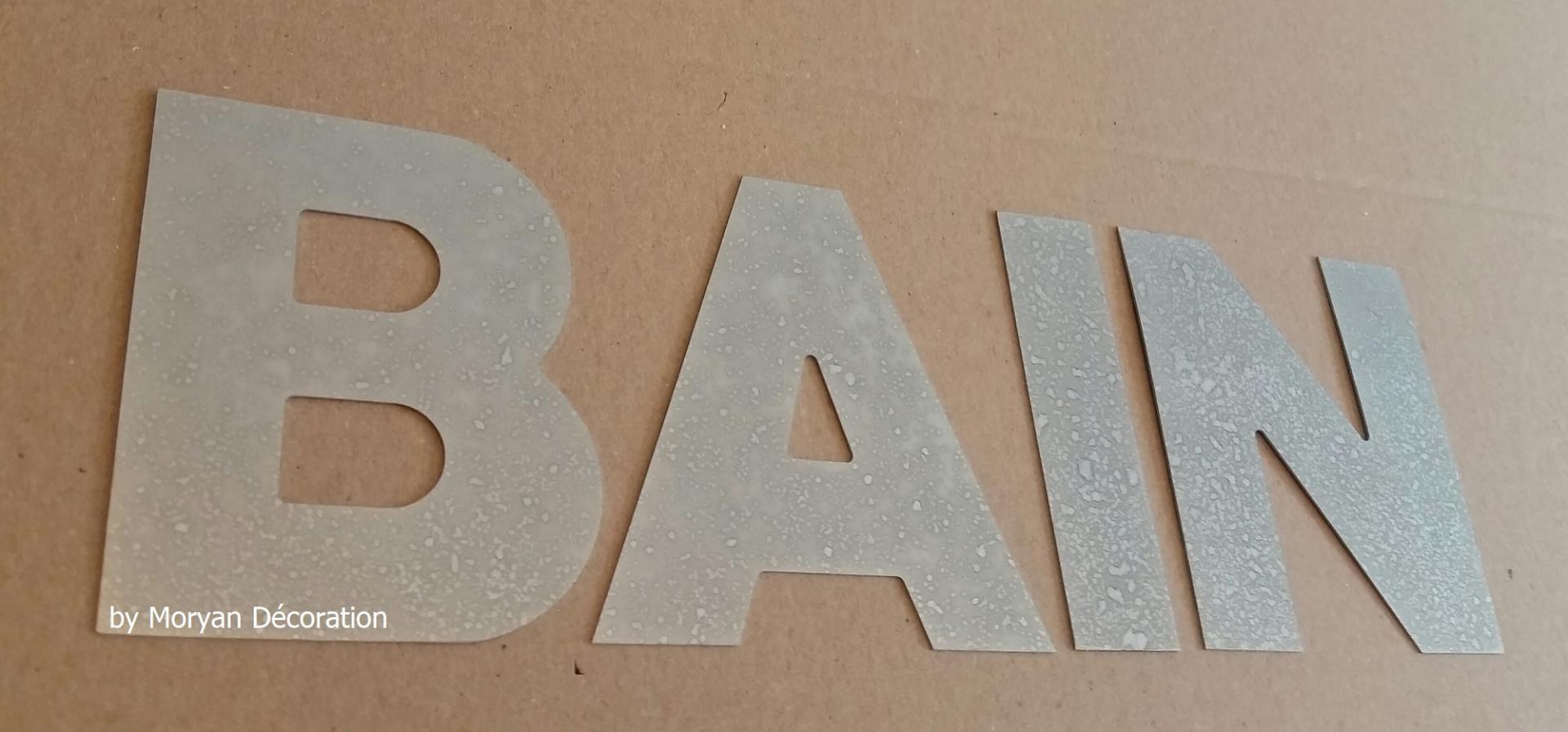 Lettre decorative zinc bain 1