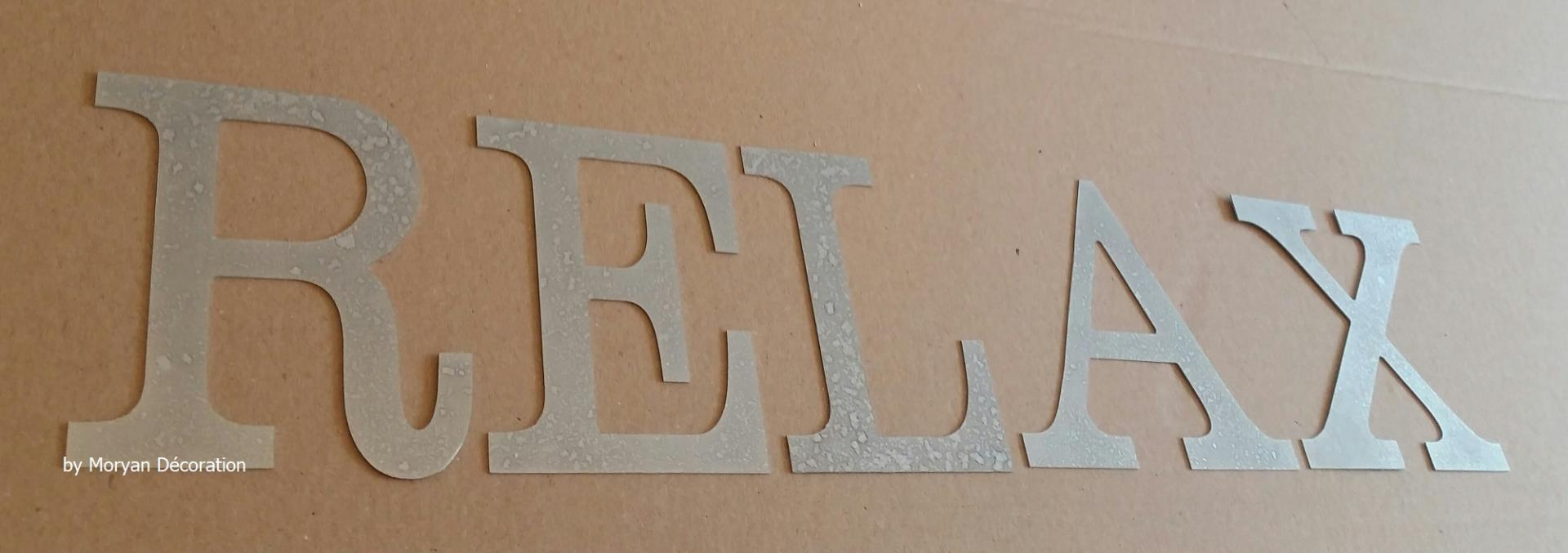Lettre decorative zinc relax