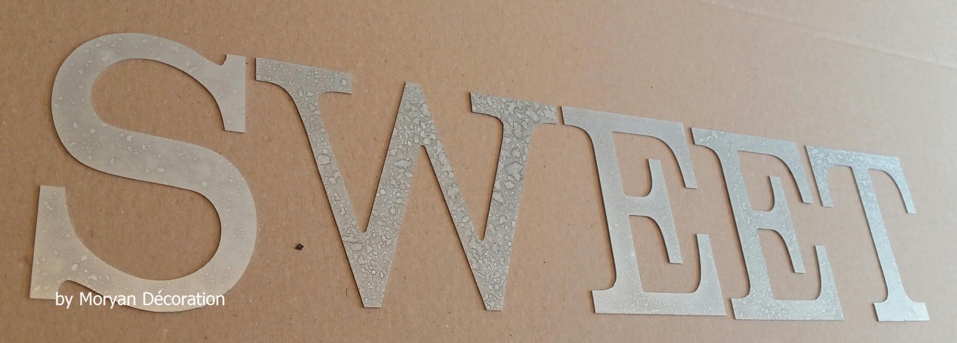 Lettre decorative zinc sweet