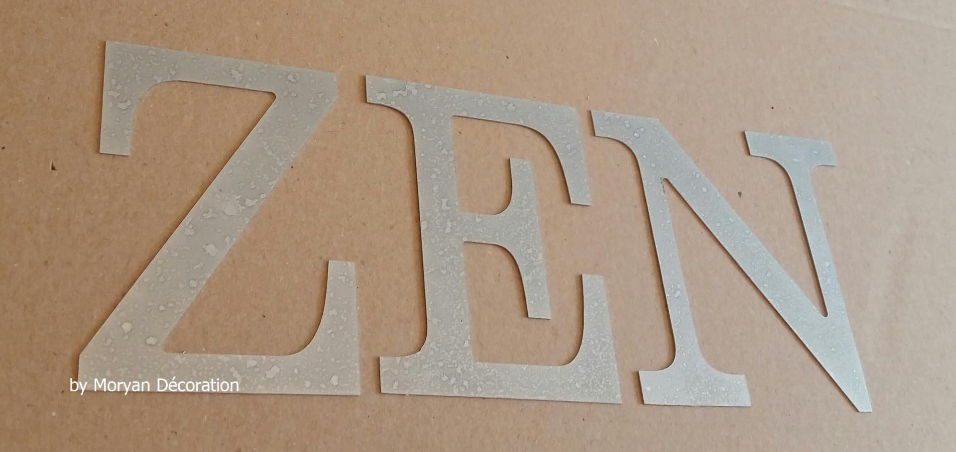 Lettre decorative zinc zen 1