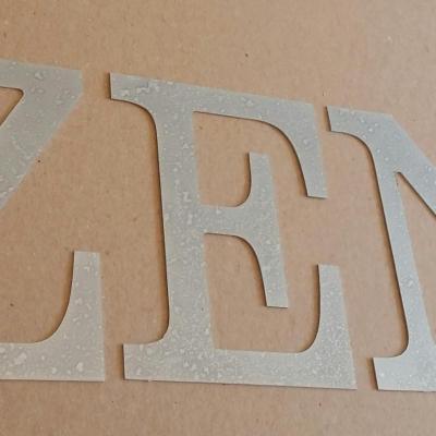 Lettre decorative en zinc ZEN