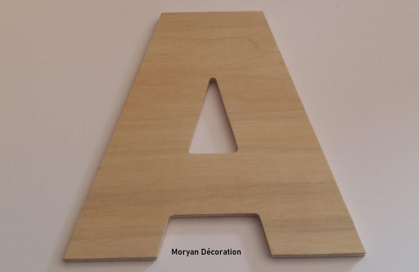 Lettre en bois decorative a peindre arial black