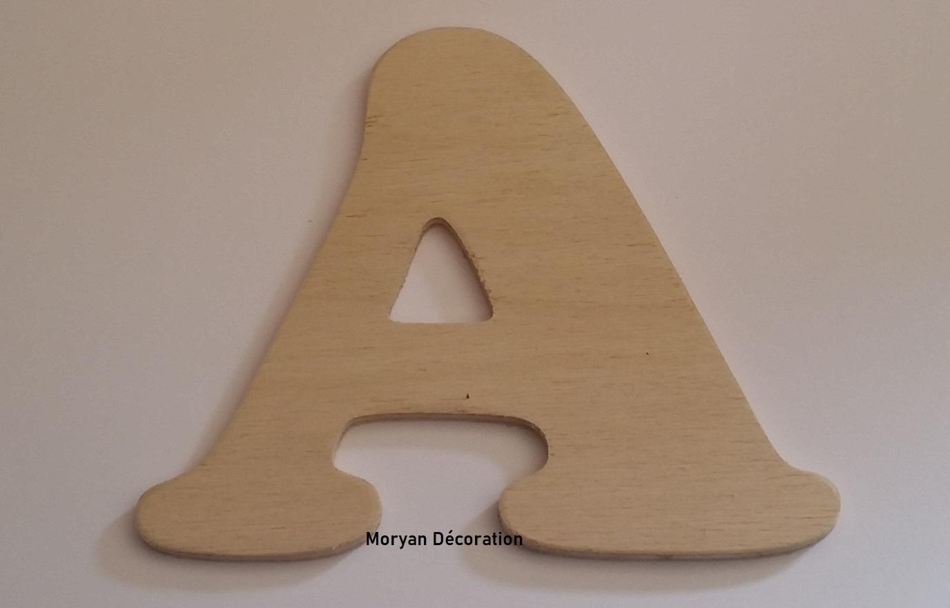 Lettre en bois decorative a peindre cooper black