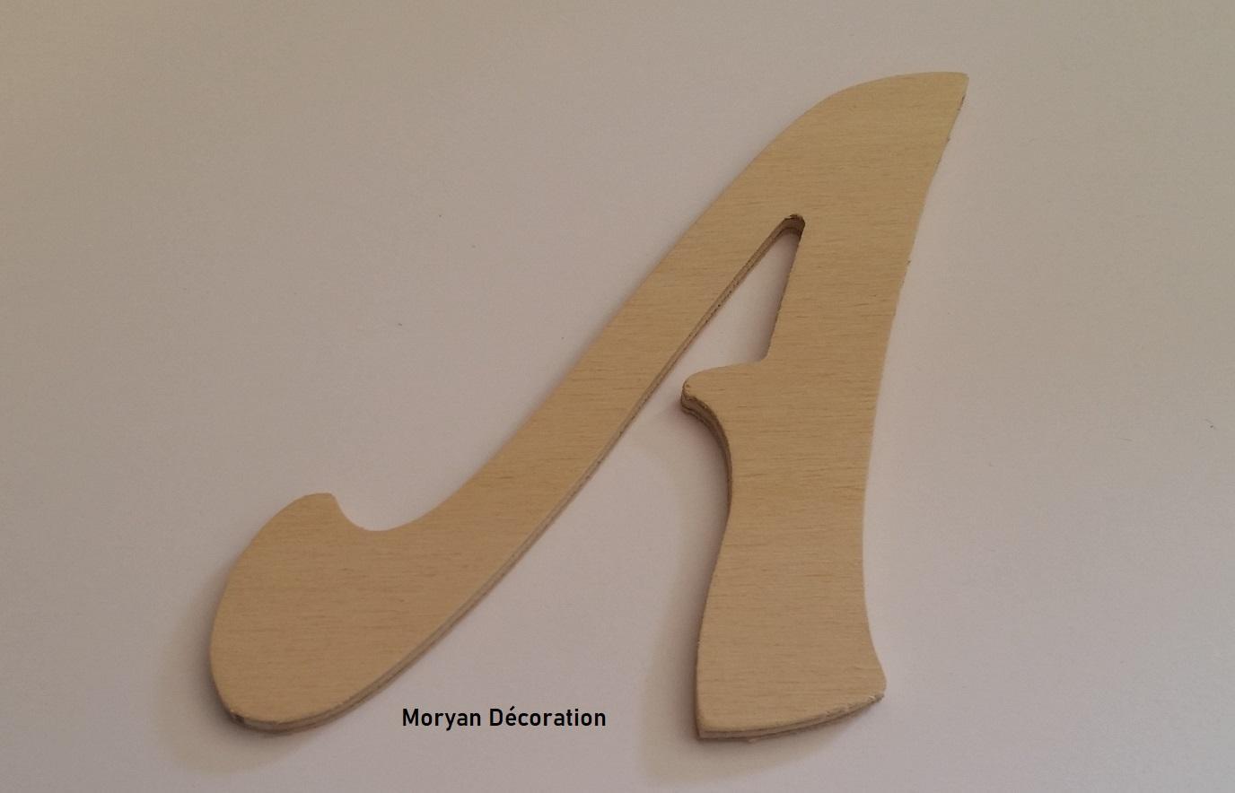 Lettre en bois decorative a peindre felipe