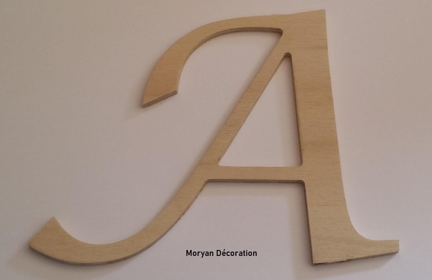 Lettre en bois decorative a peindre lucida calligraphy