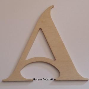 Lettre en bois decorative a peindre shangri la