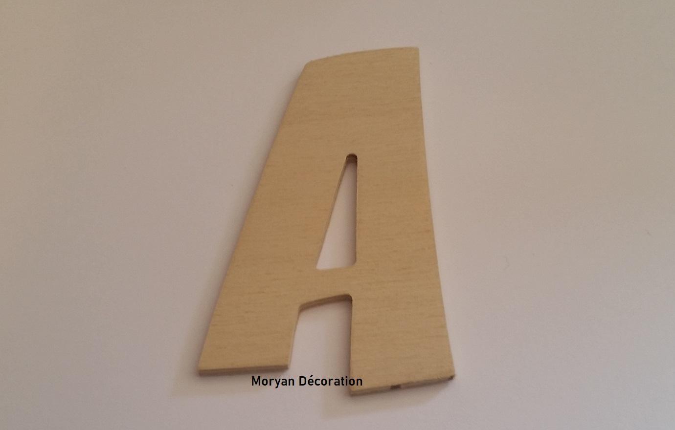 Lettre en bois decorative a peindre zoinks