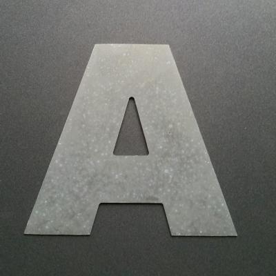 Lettre en zinc ARIAL BLACK