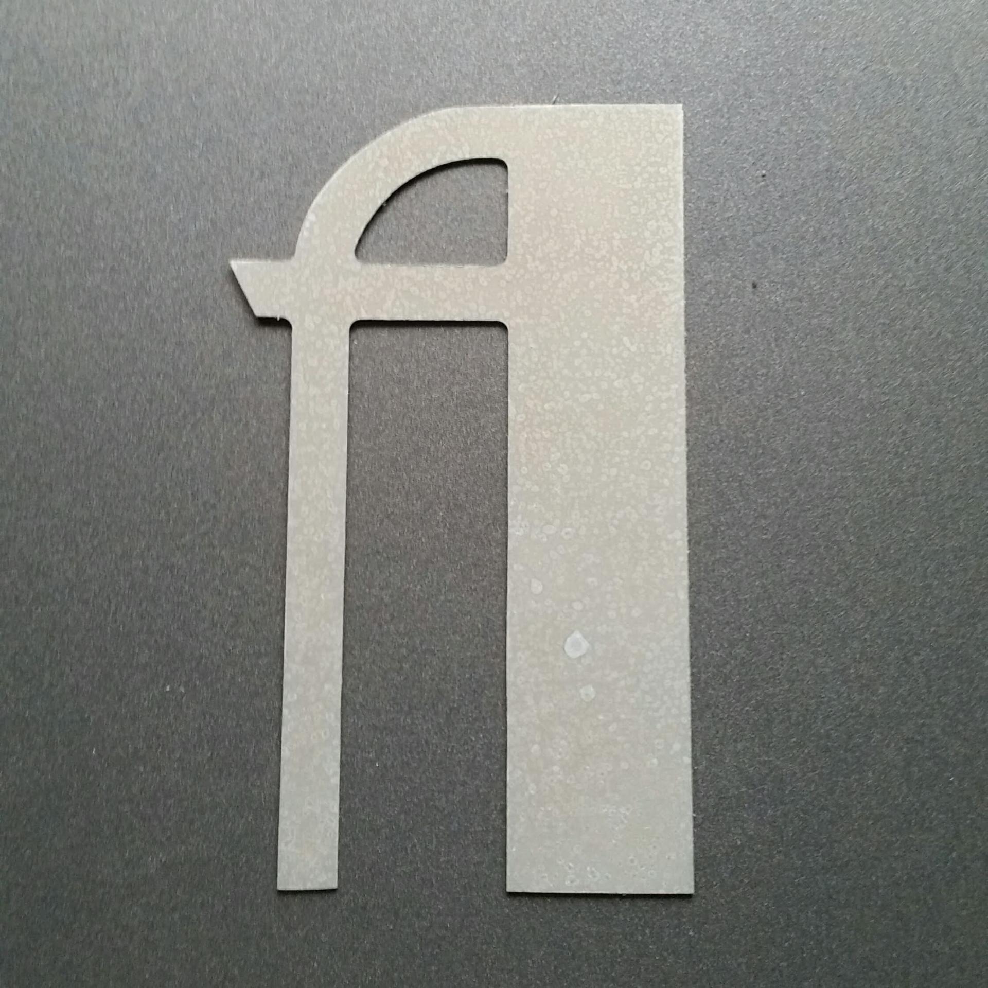 Lettre en zinc betty