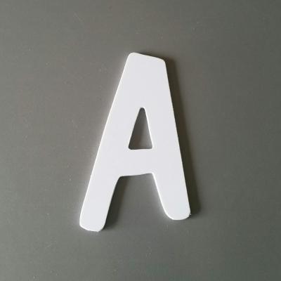 Découpe de lettre enseigne en plastique pvc DOM CASUAL