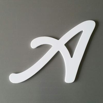 Découpe de lettre enseigne en plastique pvc LOMBRIZ