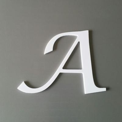 Découpe de lettre enseigne en plastique pvc LUCIDA CAL