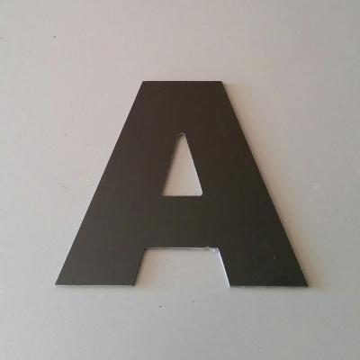 Lettre en alu DIBOND couleur & métal ARIAL BLACK