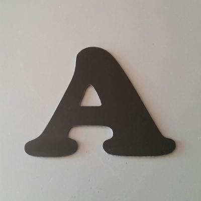 Lettre en alu DIBOND couleur & métal COOPER BLACK