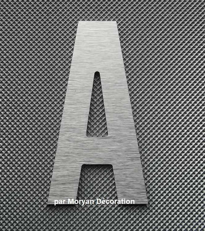 Lettre metal deco alu brosse alternate