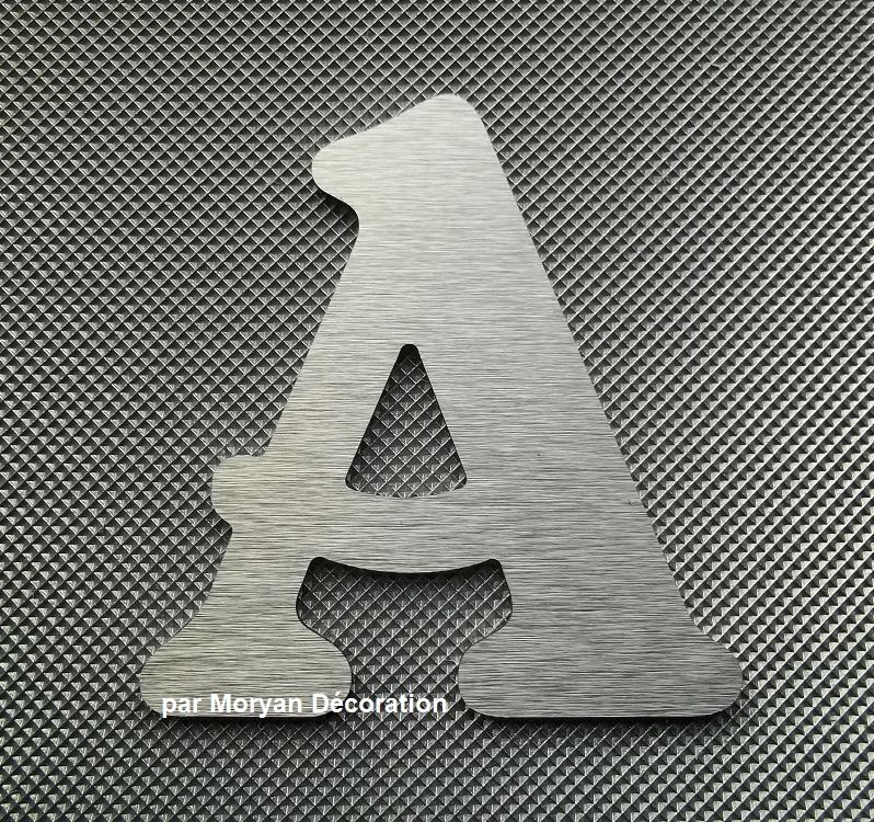 Lettre metal deco alu brosse belshaw