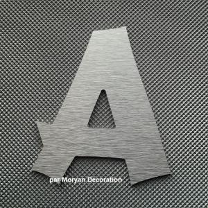Lettre metal deco alu brosse cancun